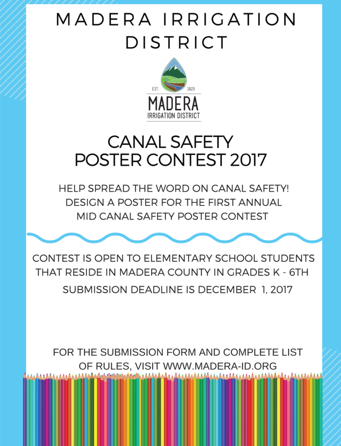 Canal Safety Poster Contest 2017