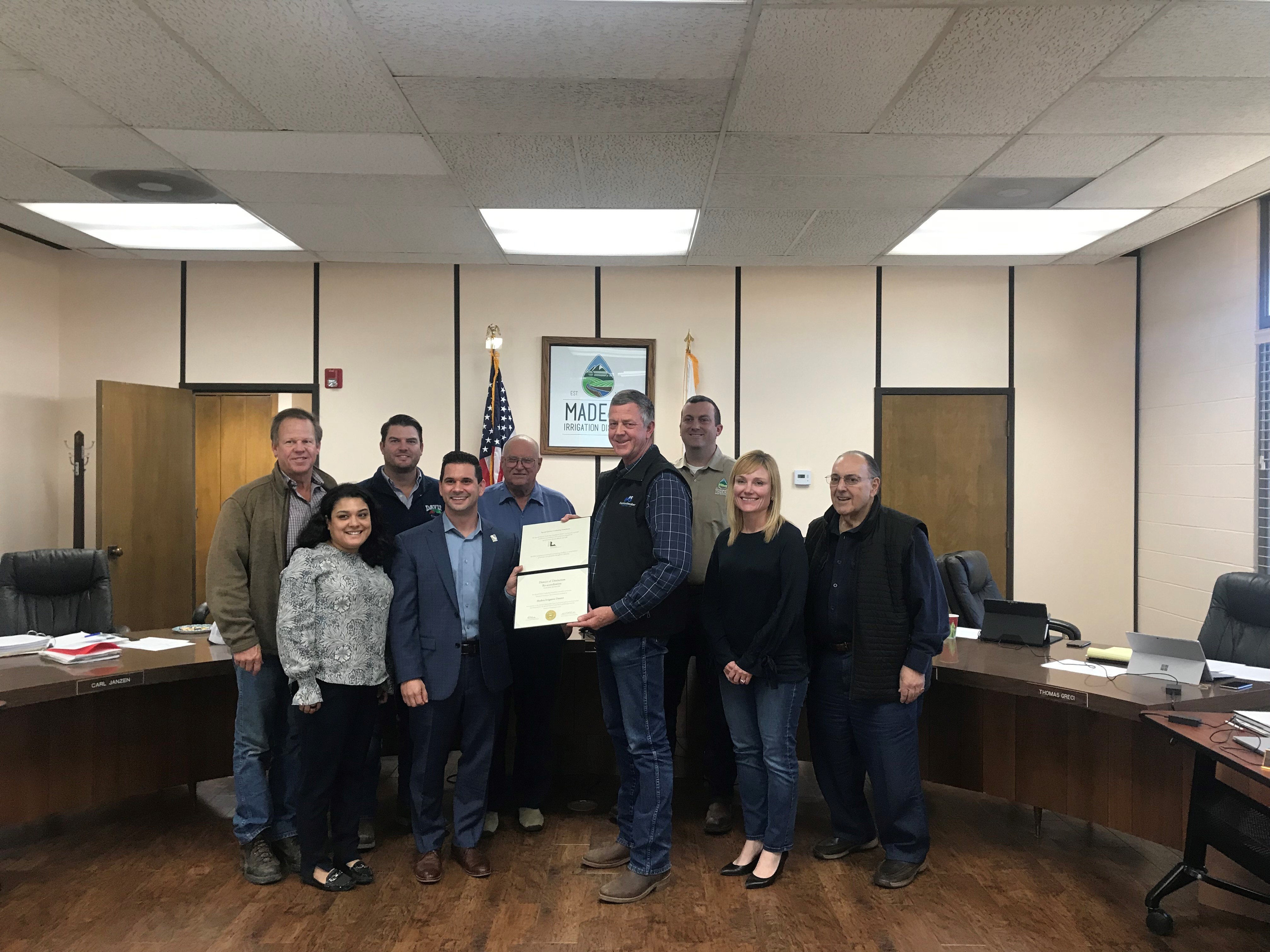 For the Second Time, Madera Irrigation District is Recognized as District of Distinction